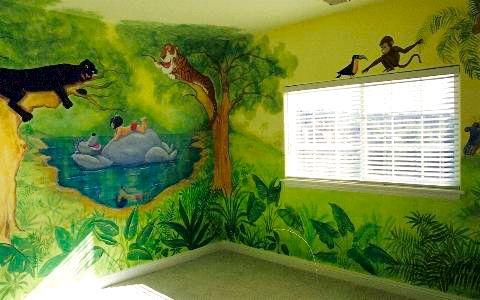 Jungle book room for Children s mural artist